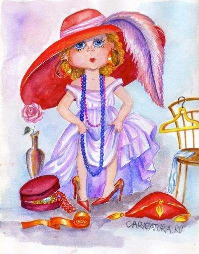 Картинка модница для детей рисованная скачать
