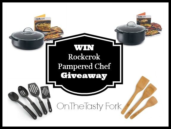 WIN Rockcrok Pampered Chef Fall Giveaway on The Tasty Fork. Winner picks a 2.5 QT or 4 QT RockCrok, Nylon serving set & Bamboo Specialty Set  #shop