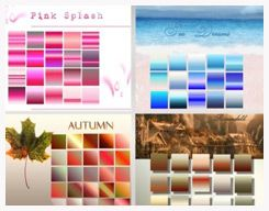 75 Photoshop Gradients by elvensword @ deviantart
