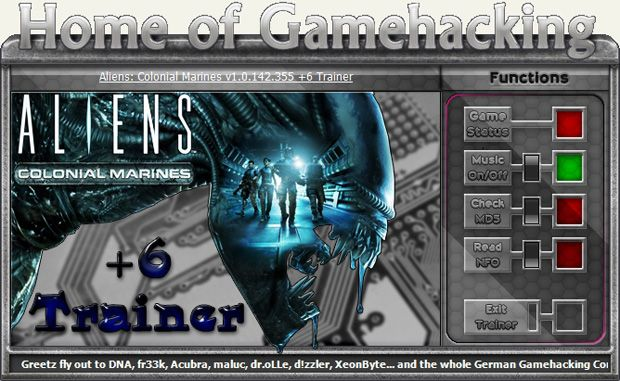 Aliens: Colonial Marines 1.0.142.355 +6 Trainer [HoG]