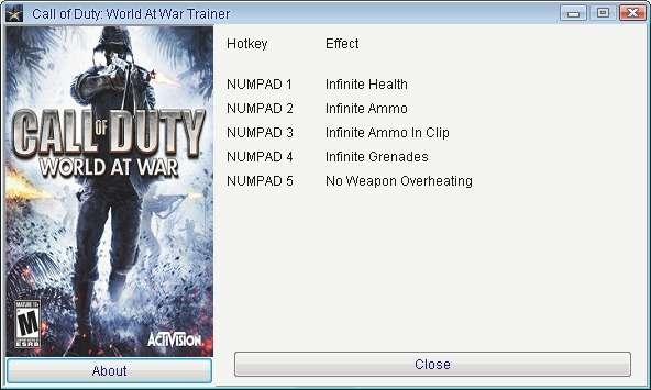 Call Of Duty World At War Cheats PC - YouTube