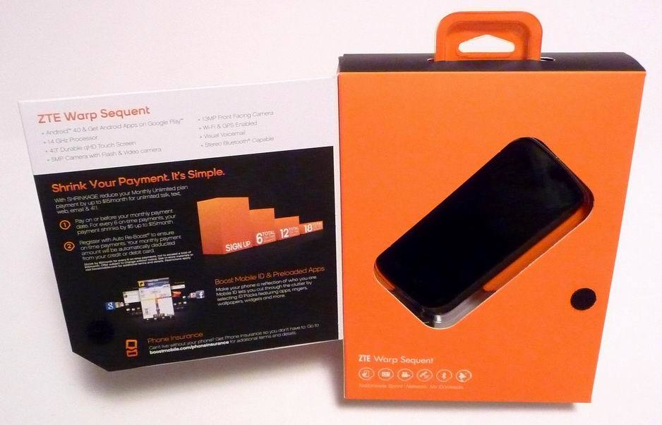 Zte N861 Warp Sequent Android 4 1 Touchscreen Boost Mobile