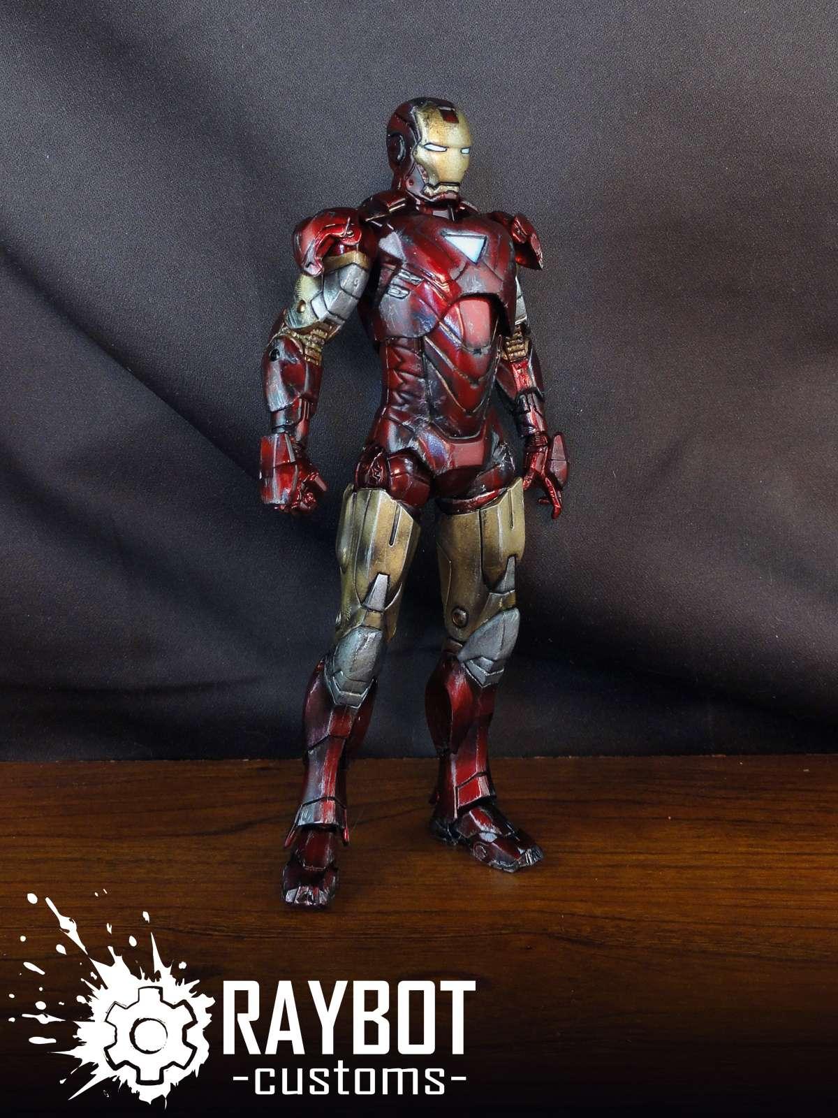 Marvel Legends Walmart Avengers Iron Man Mk VI Custom